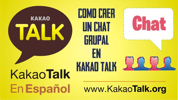 Como crear un chat grupal en Kakao Talk