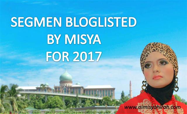 Segmen Bloglisted by Misya 2017.