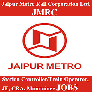 Jaipur Metro Rail Corporation Ltd., JMRC, Rajasthan, Metro Rail, 12th, Station Controller, TO, Train Operator, Junior Engineer, JE, Customer Relationship Assistant, CRA, Maintainer, freejobalert, Sarkari Naukri, Latest Jobs, jmrc logo
