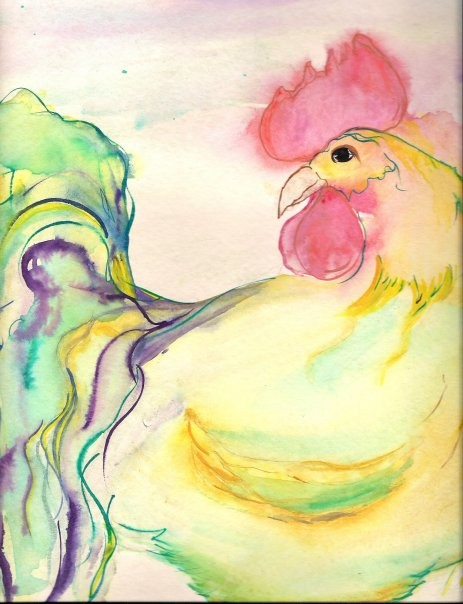 Watercolor Rooster