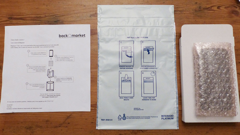 back market test kit recondionné