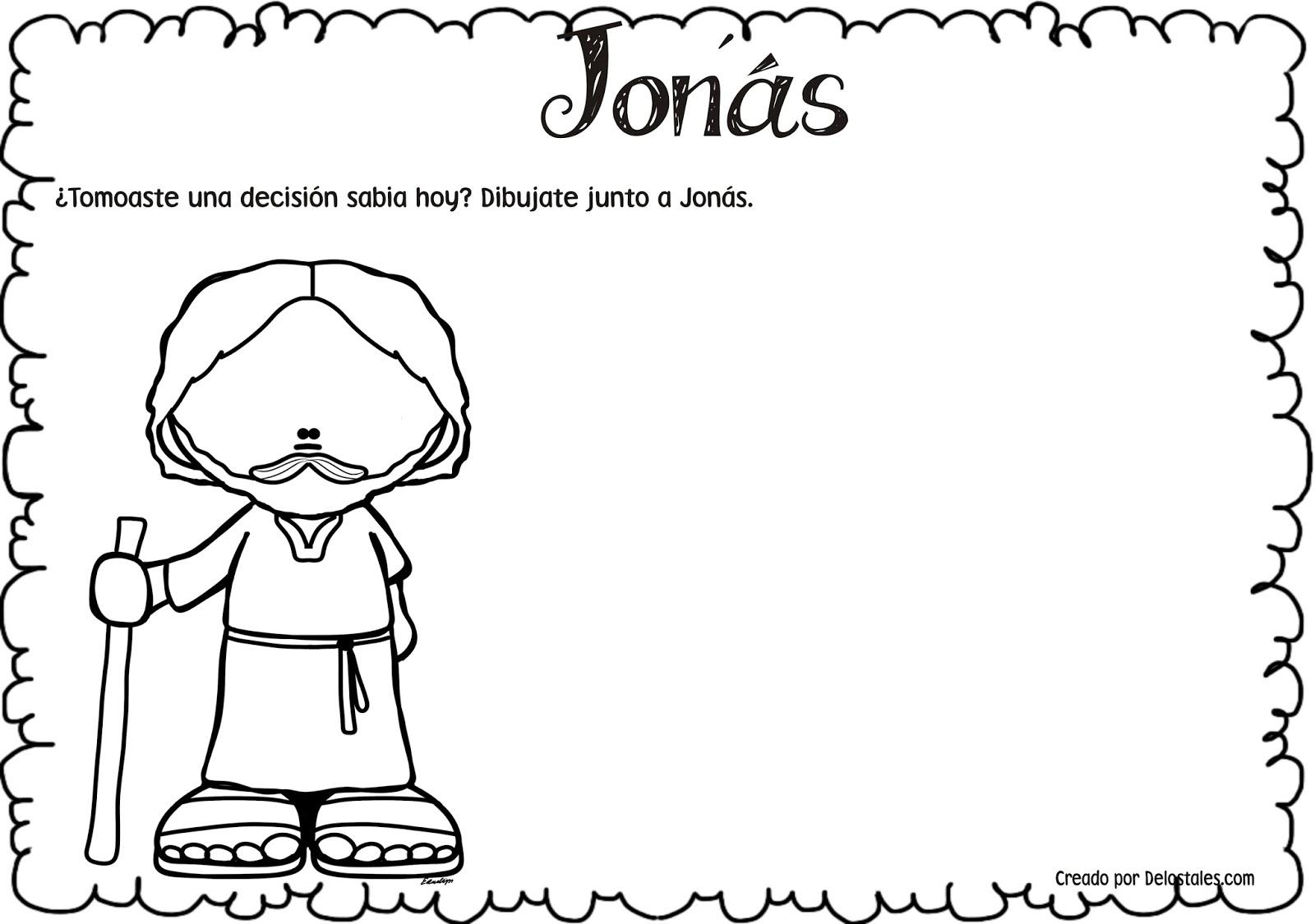 Atractivo Jonah Y Las Hojas Para Colorear De Ballenas ...