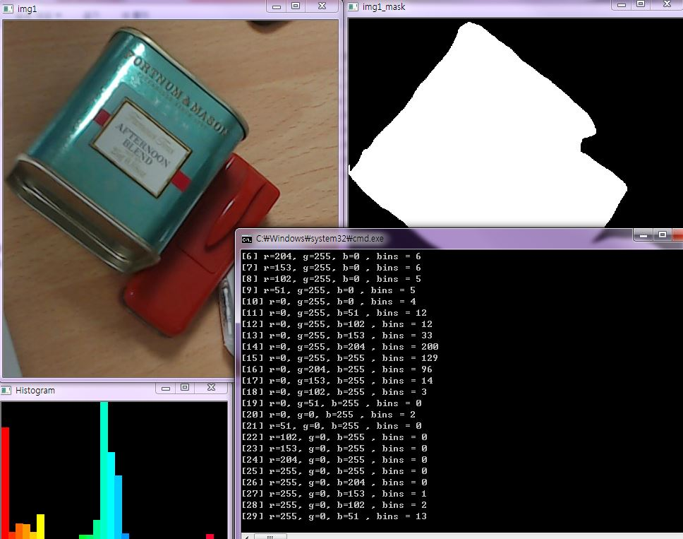 MARE's Computer Vision Study : (OpenCV) Hue Histogram drawing and