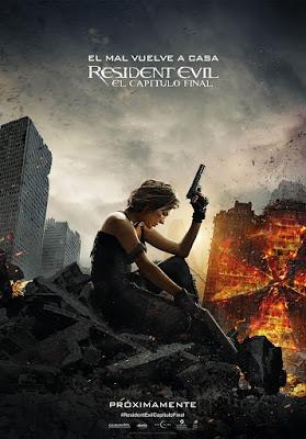 Póster en español de 'Resident Evil: el capítulo final'