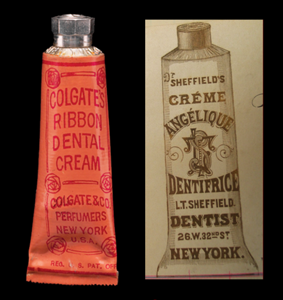 Colgate Dental Cream and Sheffiled's Dentifrice