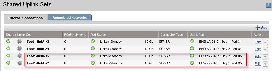 How to configure Shared Uplink Set Network in HP Flex