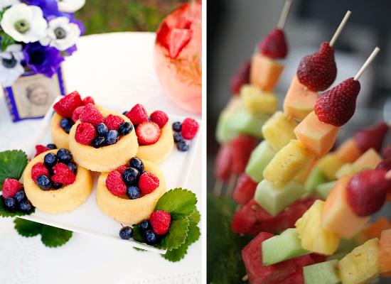 Wedding cake alternative ideas, wedding dessert, fresh fruit salad