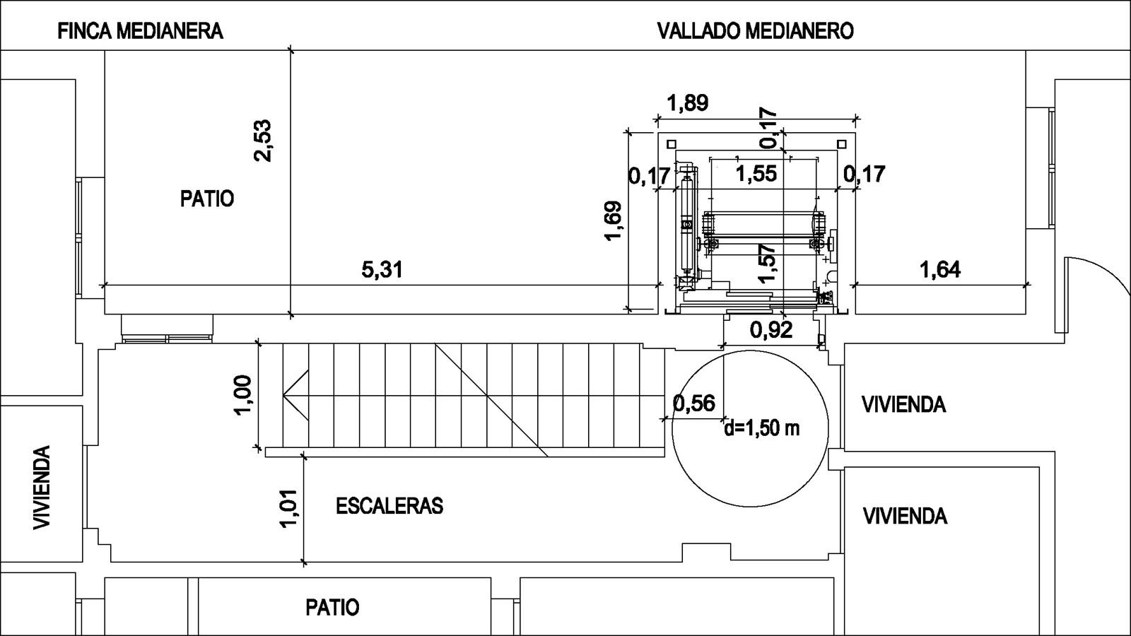 proyecto ascensor arquitecto