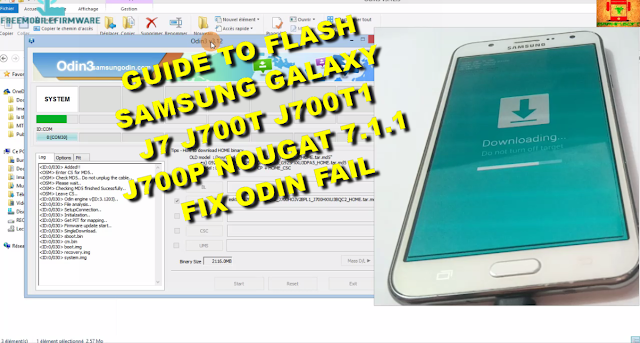 Guide To Flash Samsung Galaxy J7 J700T J700T1 J700P Nougat 7.1.1 Odin Method