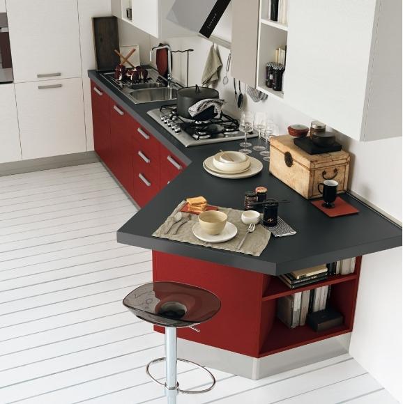 30 ideas de mesas y barras para comer en la cocina for Mesas auxiliares para cocinas pequenas