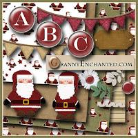kit descargable gratis de navidad con santa