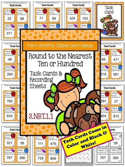 Fern Smith's Classroom Ideas Resources for Teaching Rounding to the Nearest Ten or Hundred.