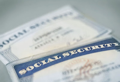 Photo of old Social Security cards