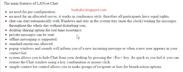 Aplikasi LANcet Chat untuk PC Jaringan Lokal