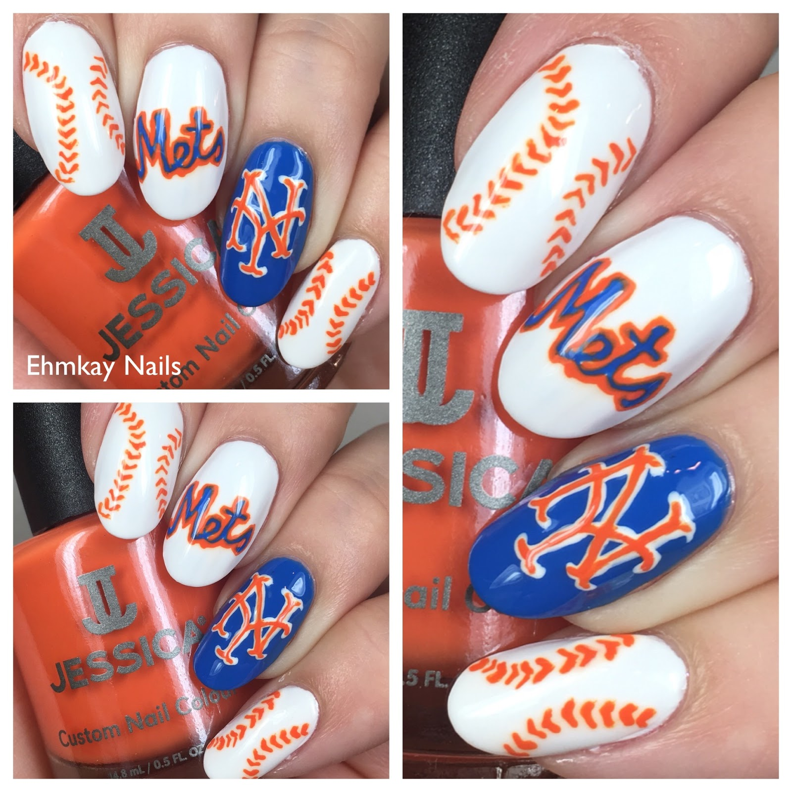 ehmkay nails: New York Mets Nail Art