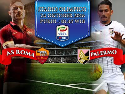 Agen Resmi SBOBET Online Terbesar -  Prediksi Serie A AS Roma vs Palermo 24 Oktober 2016