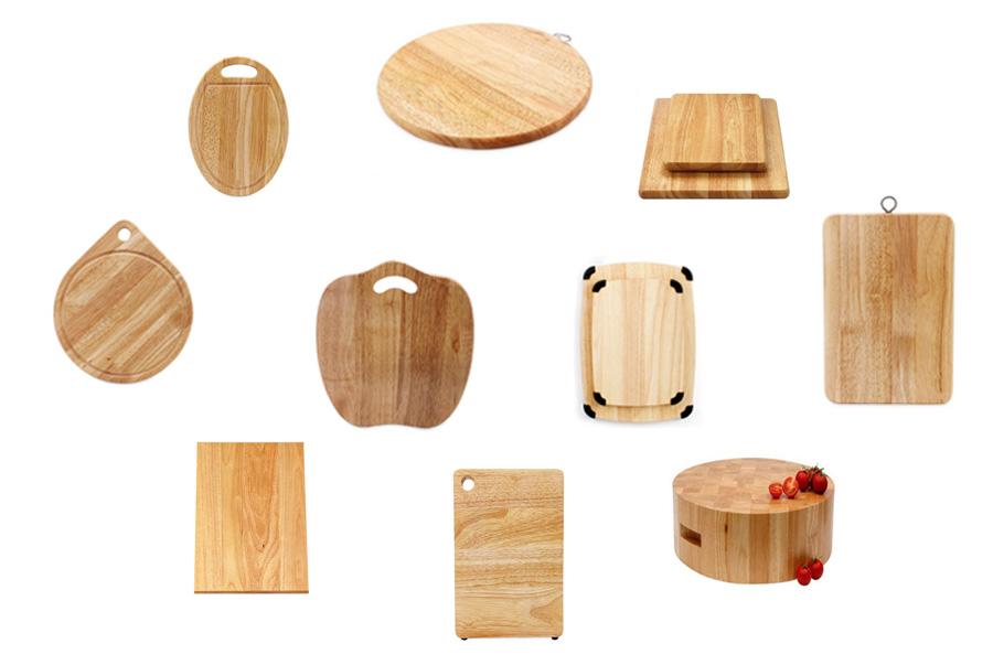 tổng hợp mẫu thớt làm từ gỗ cao su