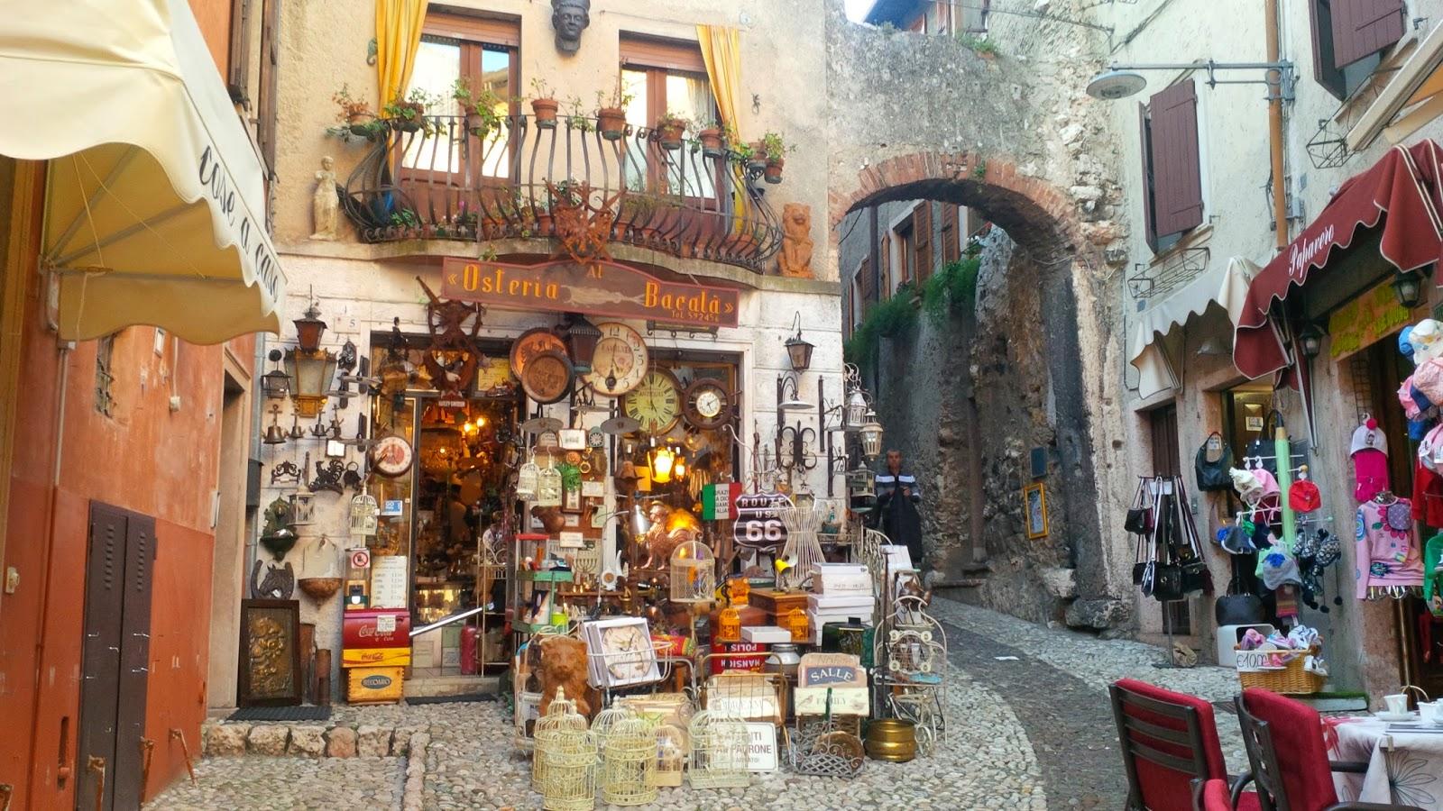 A bric-a-brack shop in Malcesine