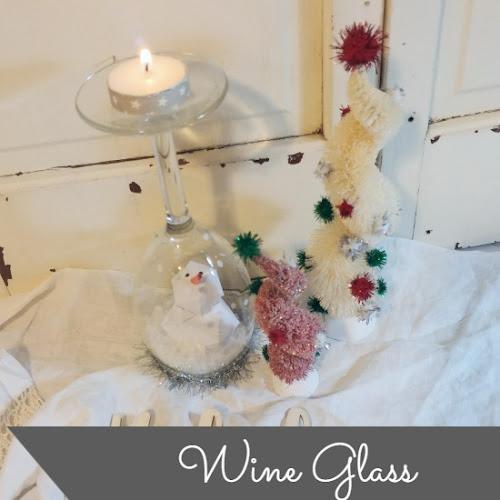 Wine Glass Snow Globe