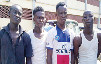 4 cult members arrested for robbery lagos