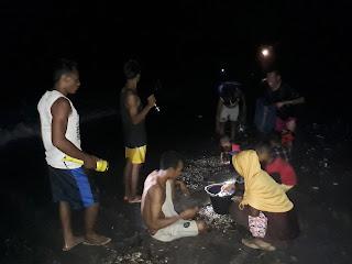 <b>Ribuan Ikan Terdampar di Pantai Ambalawi Diduga Akibat Fenomena Supermoon</b>