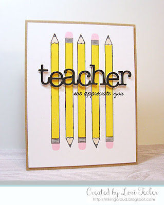 Teacher card-designed by Lori Tecler/Inking Aloud-stamps and dies from Papertrey Ink