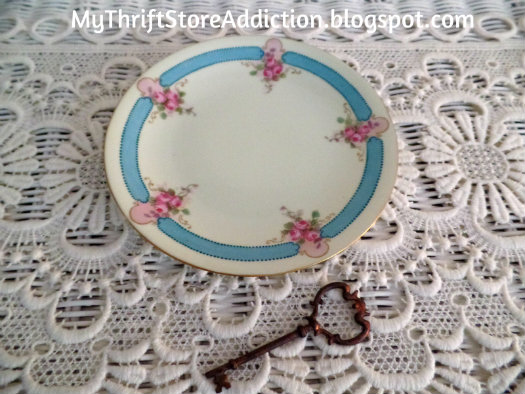 Vintage French floral plate