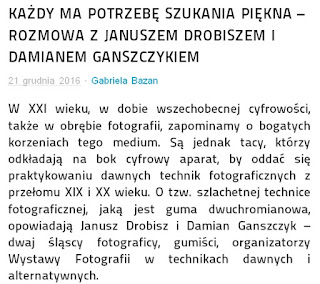 http://www.rozswietlamykulture.pl/reflektor/2016/12/21/kazdy-ma-potrzebe-szukania-piekna-rozmowa-z-januszem-drobiszem-i-damianem-ganszczykiem/