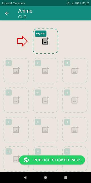 tray icon adalah tombol untuk menambah logo