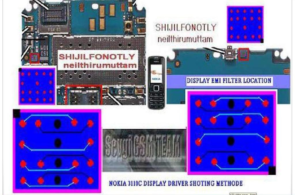cellfirmware: Nokia 3110 display ic jumper shorting wayshow to jumper display ic in nokia 3110