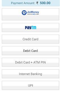 choose payment option