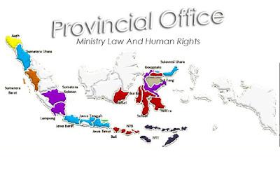 Peta Kanwil Hukum dan Ham