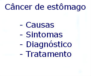 Câncer de estômago causas sintomas diagnóstico tratamento prevenção riscos complicações