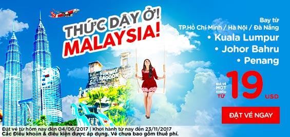 Khuyến mãi Air Asia đi Malaysia giá rẻ chỉ từ 6 USD