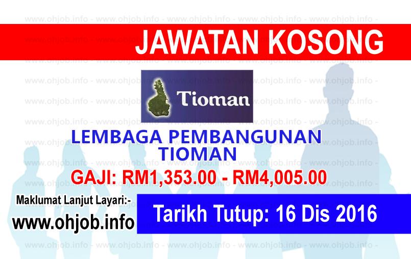 Jawatan Kerja Kosong Lembaga Pembangunan Tioman logo www.ohjob.info disember 2016