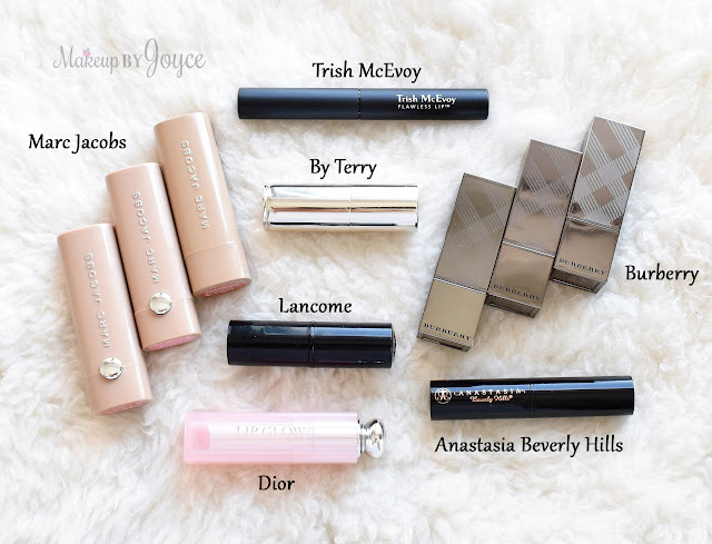 Everyday Nude Sheer Lipstick Lip Balm Collection Dior Burberry Marc Jacobs By Terry Swatches Review