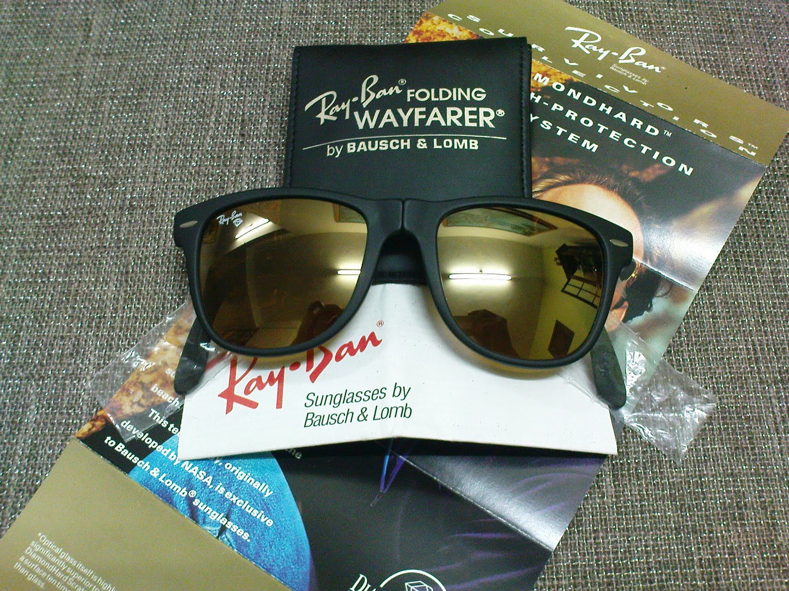 32e21d094d3 Vintage Bausch   Lomb Rayban Sunglasses  (SOLD)NOS Ray Ban Folding ...
