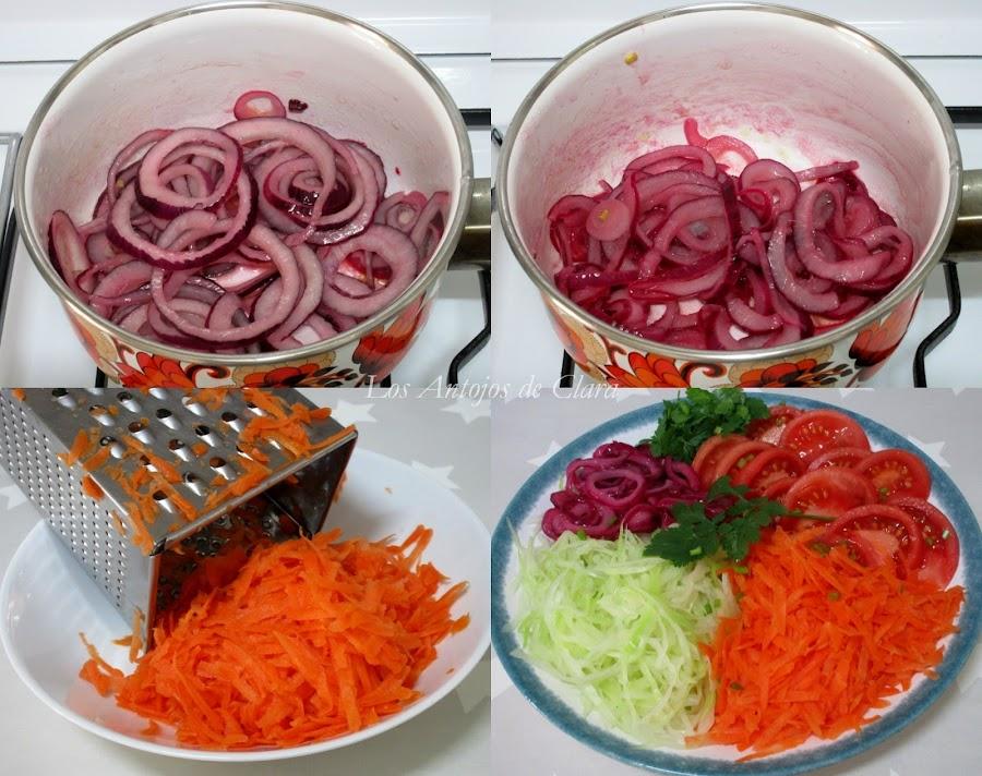 Preparación ensalada de repollo