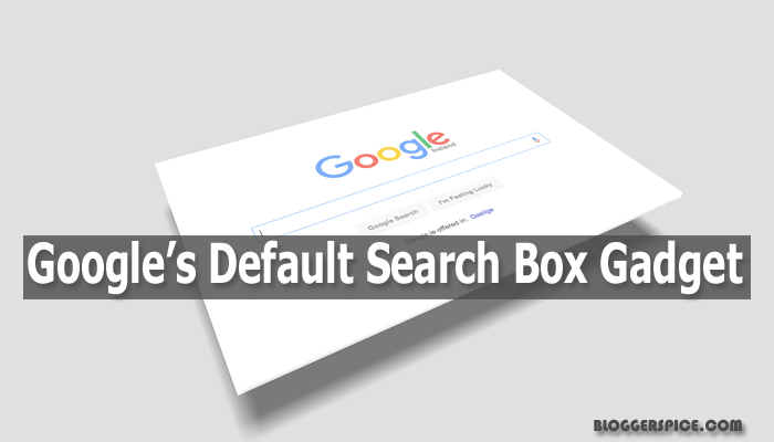 default search box