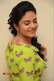 Actress Sri Mukhi Latest Pictures in Green Dress at Mental Movie Audio Launch  0026