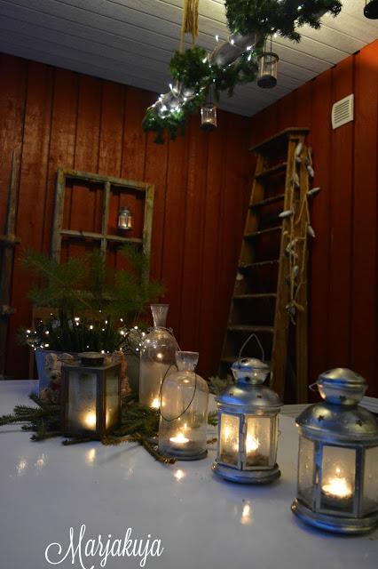 Terassi joulu 2016 kynttila tuikut