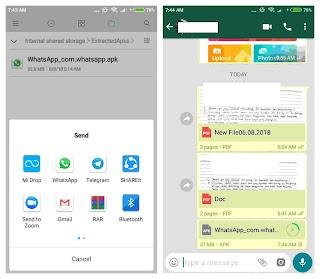 Cara Mengirim Aplikasi Android Via Whatsapp