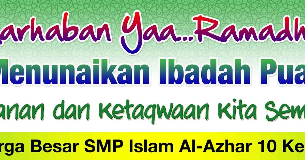 Contoh Banner Ucapan Selamat Menunaikan Ibadah Puasa ...