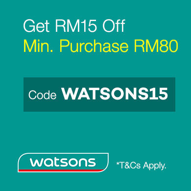 Lazada Voucher Code Malaysia RM15 OFF RM80 Minimum Purchase Watsons Online Store