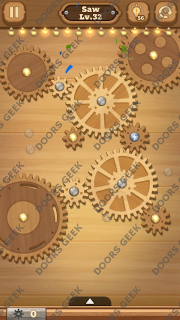 Fix it: Gear Puzzle [Saw] Level 32 Solution, Cheats, Walkthrough for Android, iPhone, iPad and iPod