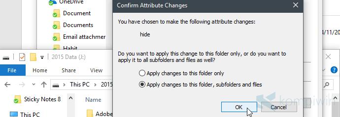 trik sembunyikan file