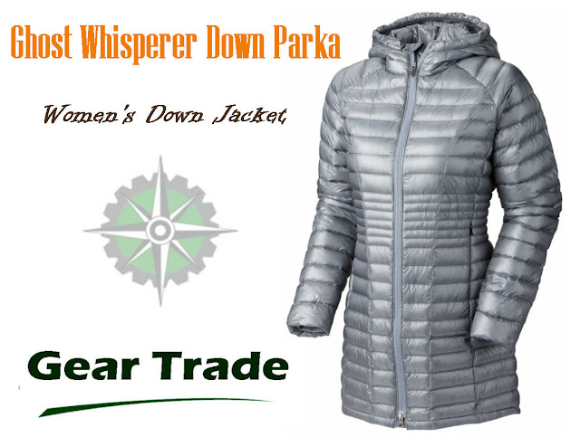 Ghost Whisperer Down Parka Gray - Womens Down Jacket at Gear Trade