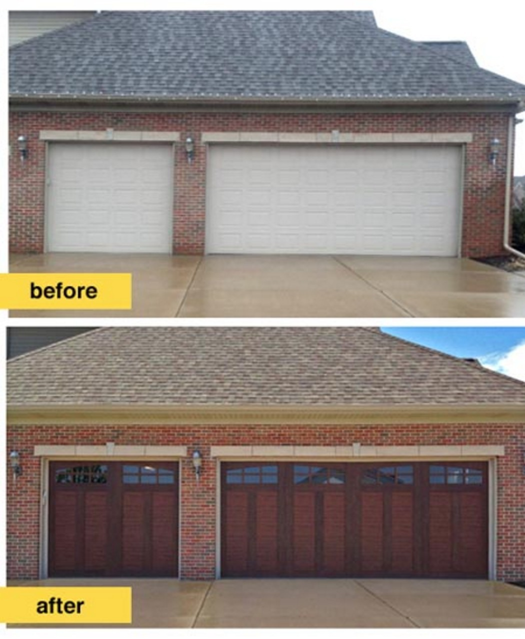 Garage door makeover ideas garrdenoflove for Garage transformation
