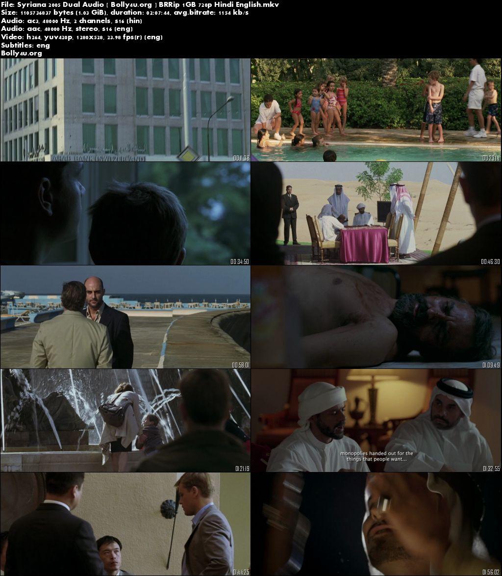 Syriana 2005 BluRay 480p Hindi Dual Audio 400Mb Download