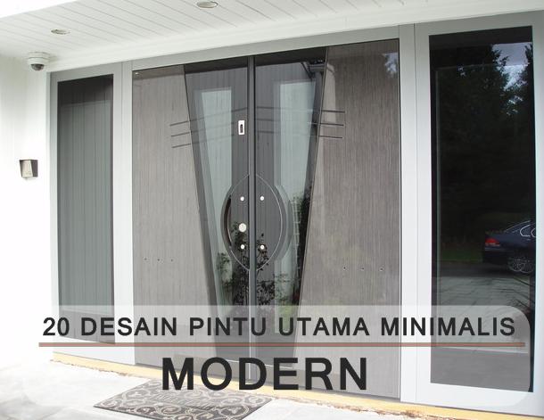 20 desain pintu utama minimalis modern terbaru berbahan kayu dan partikel